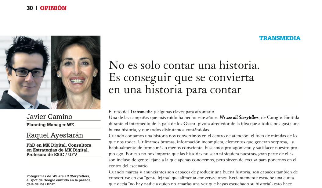 #brandedcontent, Raquel Ayestarán